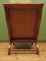 Vintage British Colonial Style Teak & Cane Plantation Chair & Footstool (13 of 17)
