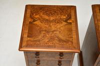 Pair of Antique Victorian Burr Walnut Bedside Chests (6 of 10)
