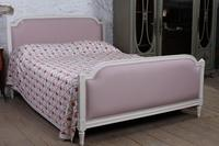 Pretty in Pink Newly Upholstered French King-size Bed