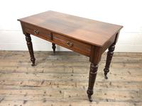 Edwardian Mahogany Two Drawer Side Table (7 of 11)
