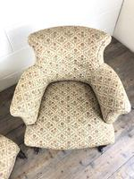 Victorian Three Piece Suite with Gold Floral Upholstery (17 of 26)