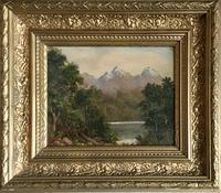 Frank Hider Oil Painting 'Lakeland Landscape'