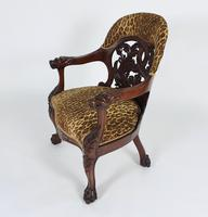Mid-19th Century French Carved Walnut Desk Chair (9 of 12)