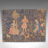 Large Antique Tapestry, French, Needlepoint, Decorative Wall Covering c.1920 (2 of 12)