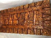 Large vintage Chinese tribal camphor wood carved chest coffee table (10 of 12)