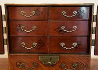 Excellent 19th Century Japanese Elm Jewellery Box/ Table Cabinet. (12 of 15)