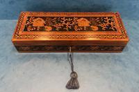 Victorian Satinwood Glove Box With Tunbridge Ware Inlay