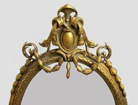 Victorian Oval Gilt Gesso Girandole Mirror (3 of 4)