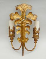 Good Pair of Large Gilt Metal Rococo Style Wall Lights - 9 Available (5 of 6)