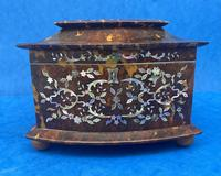 Victorian Tortoiseshell Tea Caddy with Mother of Pearl Inlay (2 of 20)