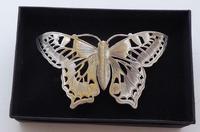 Rare Art Nouveau 1900 Hallmarked Silver Nurses Belt Buckle Butterfly Design (5 of 10)
