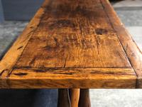 Wonderful French Chestnut Farmhouse Refectory Dining Table (3 of 37)