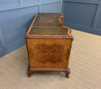 Burr Walnut Pedestal Desk by Maple and Co (13 of 18)