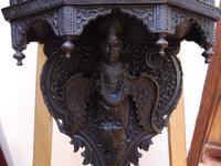 Burmese Carved Wall Bracket Hardwood 1860 (free Shipping to Mainland England) (3 of 12)