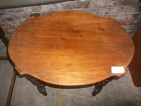 Two Tier Mahogany Window Table (2 of 2)