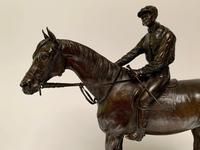 Jules Moigniez - Bronze Pair of Racehorses & Jockeys (6 of 8)