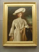 Oil Portrait Lady Dunbar Of Mochrum by John Horsburgh 1835-1924 Large Paintings (2 of 12)