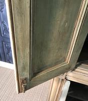 Pine Barrel Back Corner Cupboard in Original Paint (18 of 18)