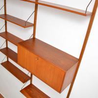 Danish Teak Vintage PS Wall System Bookcase Cabinet (3 of 6)