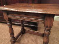 Antique George II Style Oak Joint Stool (3 of 5)