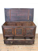 18th Century Carved Oak Mule Chest (5 of 13)
