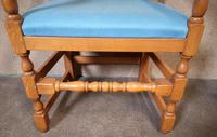 Pair of Oak Reproduction High Back Armchairs (5 of 11)
