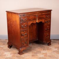 Mahogany Kneehole Desk With Brushing Slide (10 of 17)