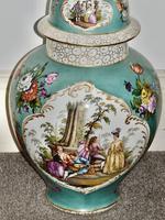 Stunning Very Large Late 19th Century Helena Wolfsohn Dresden Vase + Cover (10 of 11)
