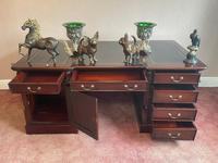 Large Georgian Style Double Sided Partners Desk (18 of 51)