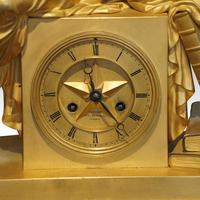 Large French Empire Gilt Clock by Deniere et Fils (5 of 11)