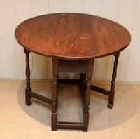 Small Oak Drop Leaf Table c.1920 (3 of 8)