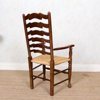 6 Oak Elm Rushwork Country Dining Chairs (3 of 10)