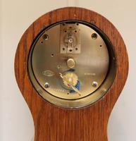 Edwardian Oak & Inlay Balloon Clock (7 of 8)