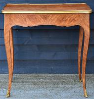 Exceptional Quality 19th Century French Kingwood Writing Table/ Lamp Table/ Centre Table. (3 of 15)