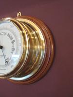 Antique Barker of London Bulkhead Marine Barometer (5 of 5)