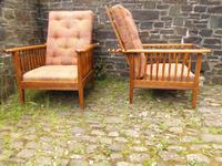 Pair of Arts & Crafts Reclining Chairs (2 of 12)
