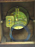 Fine Antique Arts & Crafts Mantel Clock – 8-day Carved Delftware Striking Mantle Clock (8 of 11)