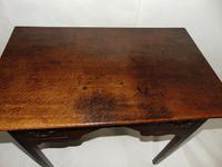 George III Oak 3 Drawer Lowboy (2 of 7)