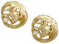 18ct Yellow Gold 'Bird' Cufflinks - Antique c.1900 (4 of 9)