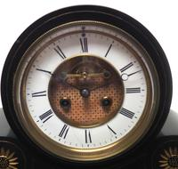 Amazing French Slate Mantel Clock Visible Escapement 8 Day Striking Mantle Clock (4 of 14)