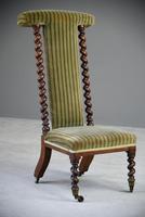 Victorian Walnut Prie Dieu Chair (9 of 11)