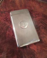 Victorian Silver Engine Turned Card Case
