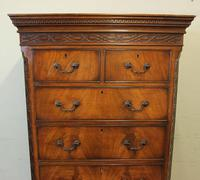 Antique Mahogany Chippendale Style Chest on Chest, Tallboy (13 of 15)