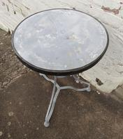 French Iron & Marble Bistro Table Mid 19th Century (9 of 12)