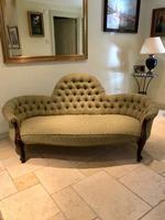 Antique Victorian Sofa Settee Buttonback (3 of 7)
