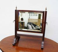 Small Victorian Mahogany Dressing Table or Toilet Mirror (6 of 8)