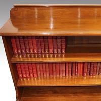 Pair Edwardian Walnut Open Bookcases (2 of 11)