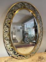 1960's Brass Oval Mirror