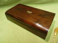 French Inlaid Rosewood Games Box + Accessories c.1880 (4 of 11)