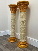 Dutch Golden Age Style Gilt Harvest Relief Plinth Display Torcheres (36 of 87)